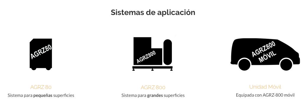 Nuestros sistemas de aplicación, adaptables a todas las necesidades