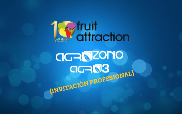 FRUITATTRACTION 2018: AGROZONO-AGRO3 STAND 9C13: NOS VEMOS MAÑANA