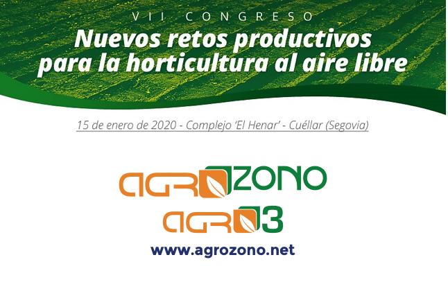 AGROZONO-AGRO3 patrocinará el VII Congreso de Horticultura al aire libre