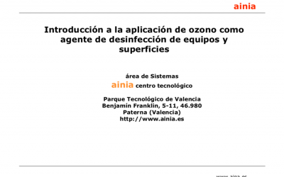 AINIA – Introduction to the application of ozone as a surface and equipment disinfection agent.