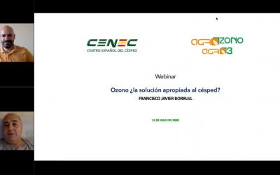 Webinar CENEC: Ozono ¿la solución apropiada al césped? Francisco Borrull