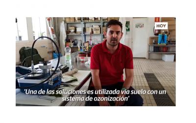 Publicación en  HOY.es: Soluciones ecológicas para las enfermedades de madera de la vid