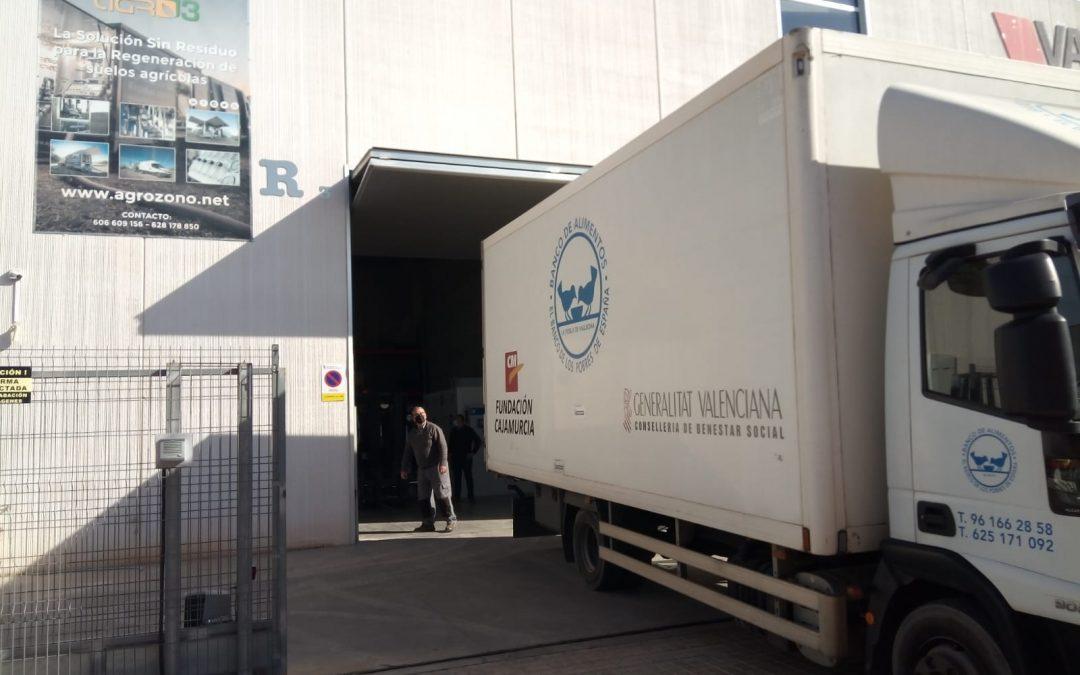 AGROZONO-AGRO3, OZONO INNOVACIÓN y ALMACENES RUBIO colaboran con el banco de alimentos de la Generalitat Valenciana
