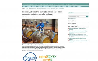 El ozono como alternativa natural y sin residuos a los productos químicos para las bodegas. Por OZONO INNOVACIÓN