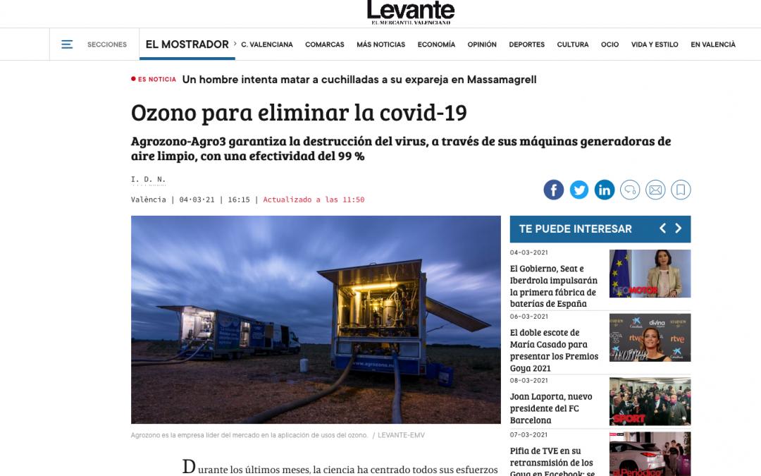 Reciente reportaje publicado en Levante-EMV